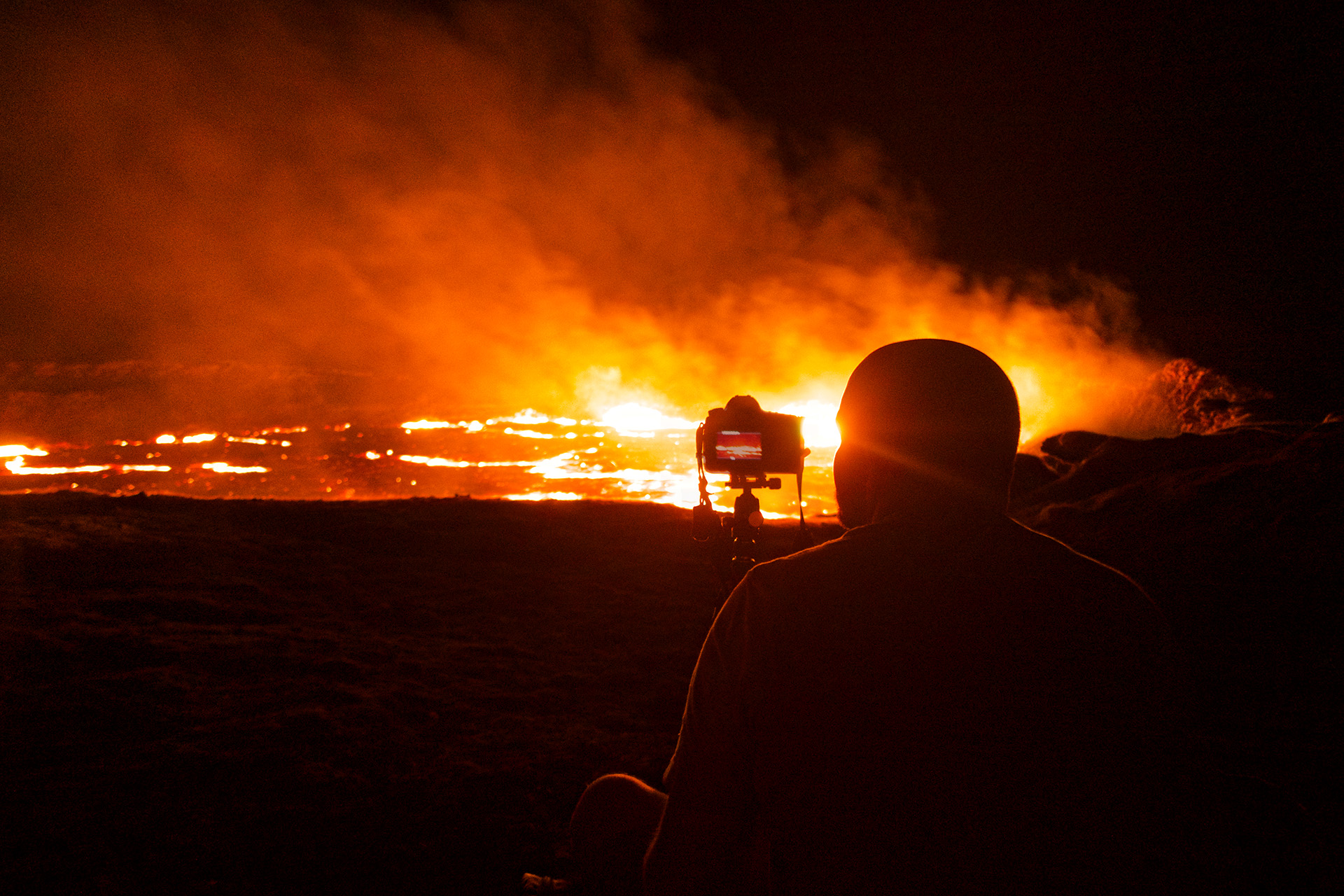 About Me - Matthew at the Erta Ale Volcano in Ethiopia - Photo Credit: HRP