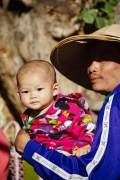 Father and infant, Inle Lake, Burma