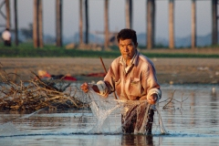 Net Fisherman, Taungthaman Lake, Burma